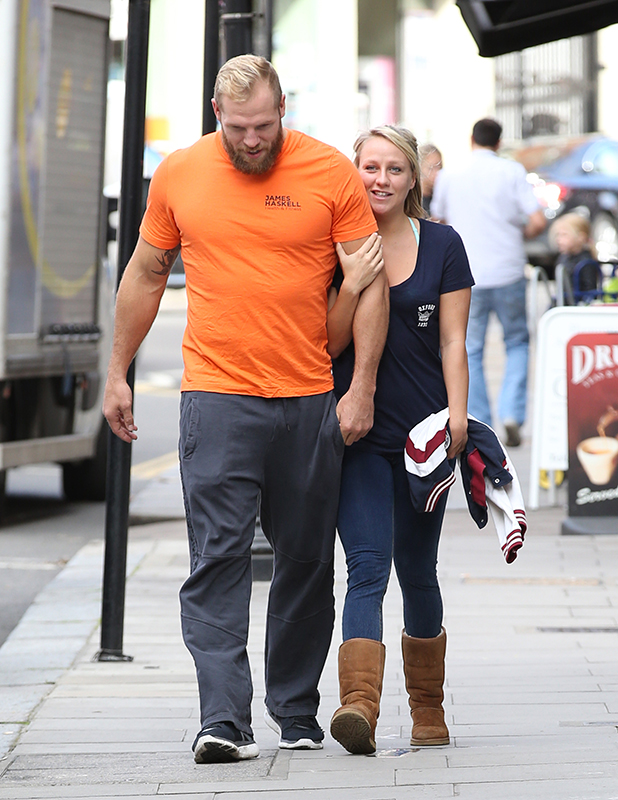 Chloe Madeley and James Haskell out and about, London, Britain - 02 Sep 2015
