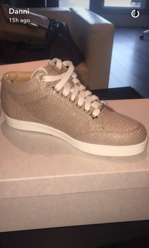 Danielle Armstrong gets Jimmy Choo shoes from Lockie for birthday 3 May 2016