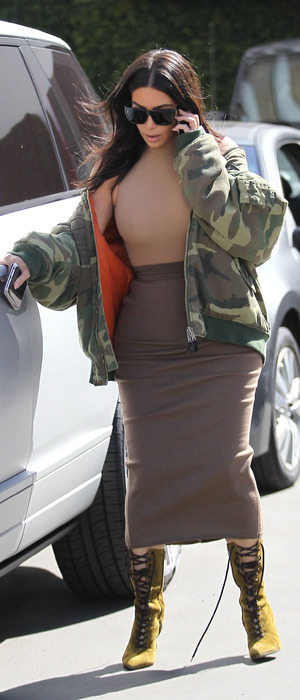 Keeping Up With The Kardashians star Kim Kardashian seen leaving Epione Skin Clinic in Los Angeles, 12th May 2016