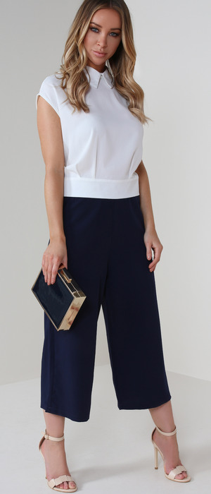 Former TOWIE star Lauren Pope shares her top picks from fashion website Vavavoom, culottes and white top, 11th May 2016