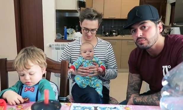 Tom Fletcher and Mario Falcone holiday together in Italy visiting family - 11 May 2016