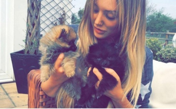 Charlotte Crosby welcomes new puppy Rhubarb 7 May