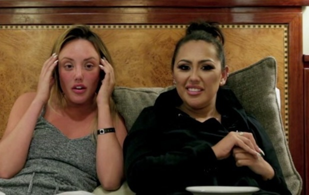 Charlotte Crosby and Sophie Kasaei watch back Charlotte/Holly fallout on Geordie Shore 13 May