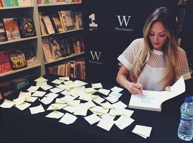 Charlotte Crosby at book signing, 13/5/16