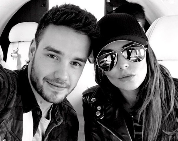 Cheryl and Liam Payne in a private jet on the way to Cannes 11 May 2016