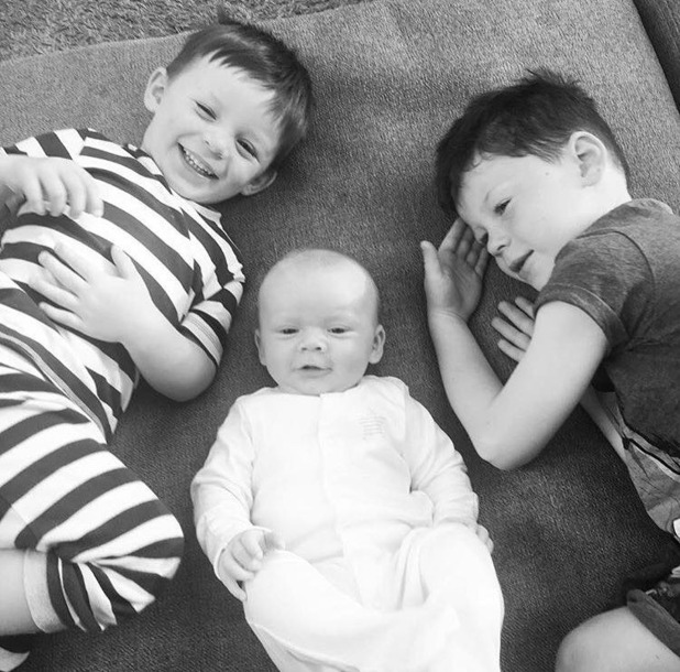 Coleen Rooney shares new picture of Klay, Kai and Kit - 11 May 2016