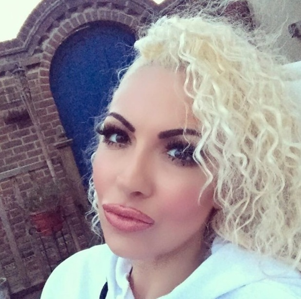 Jodie Marsh takes to Instagram to show off her curly blonde hair after taking out her braids, 10th May 2016