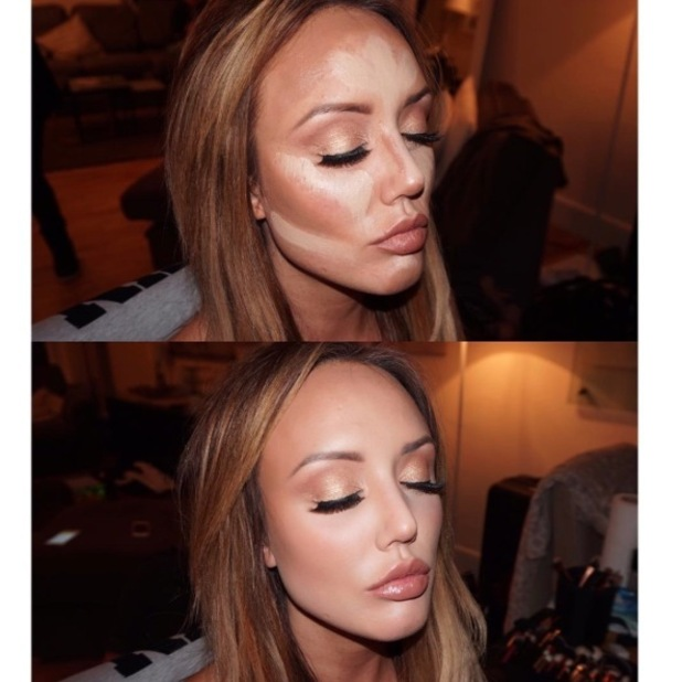 Geordie Shore star Charlotte Crosby gives us a contouring masterclass on Instagram alongside her make-up artist Melissa Wharton, 10th May 2016