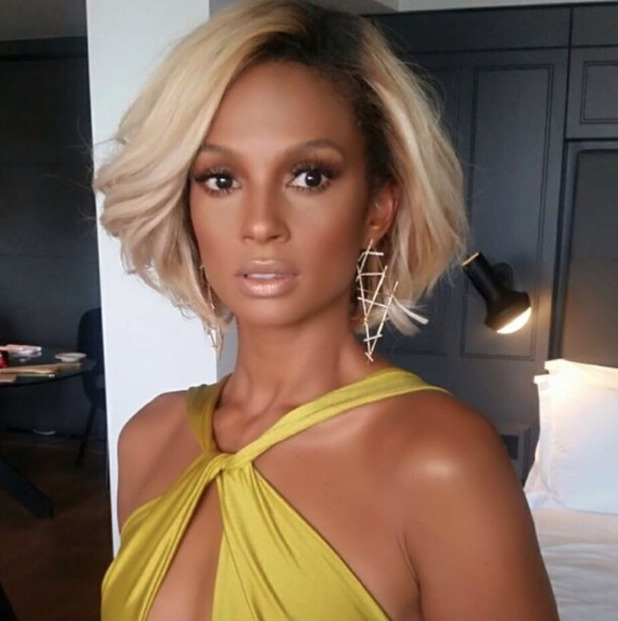 Alesha Dixon looks amazing at BAFTAS, make-up by Karin Darnell, 8 May 2016