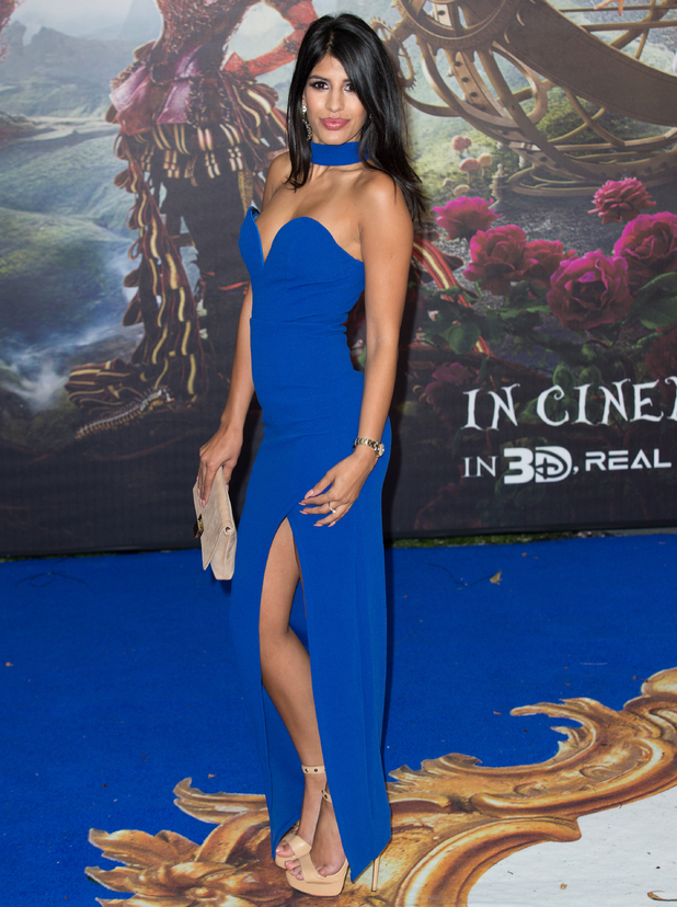 Jasmin Walia at The European Premiere of 'Alice Through The Looking Glass' held at the Odeon Leicester Square - Arrivals - 10 May 2016