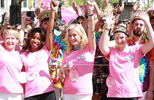 Denise Van Outen leads Benefit's Bold Is Beautiful march in London 8 May 2016