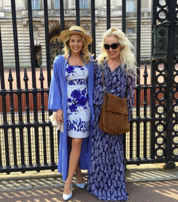 TOWIE's Lydia Bright and Debbie Douglas at Buckingham Palace 11 May 2016