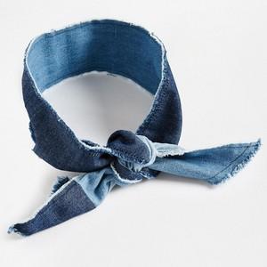 Patchwork denim headscarf, asos.com