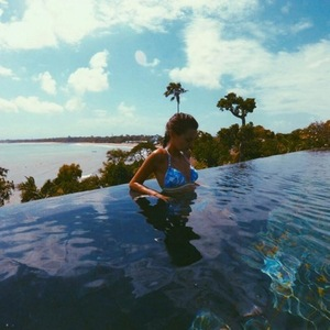 James Dunmore and Lucy Watson holiday in Bali 16 May
