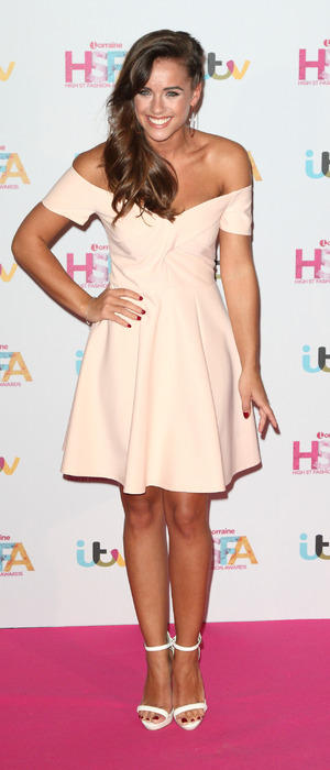 Strictly star Georgia May Foote wears £40 River Island dress to the Lorraine High Street Fashion Awards in London, 17th May 2016