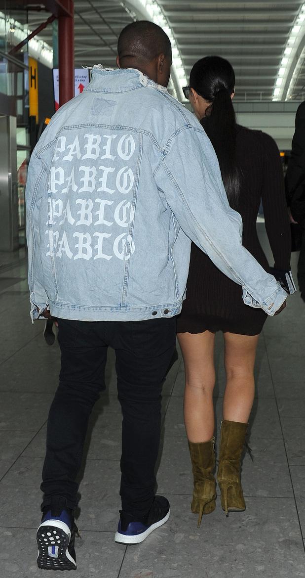 Kim and Kanye Heathrow