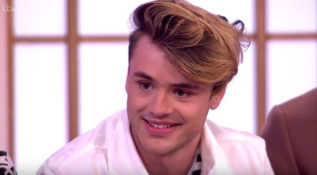Casey Johnson with Union J on Loose Women 19 May
