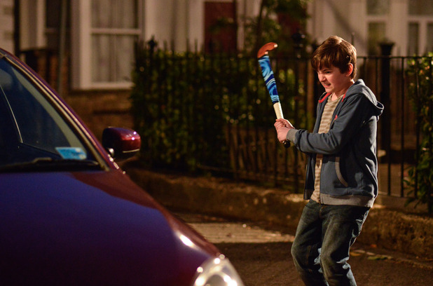 EastEnders, Bobby smashes up Jane's car, Thu 19 May