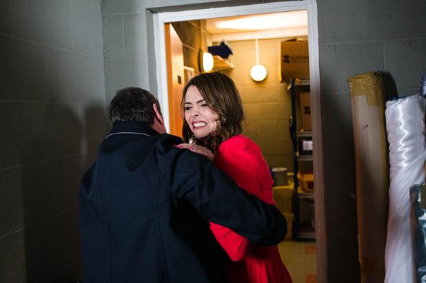 Corrie, Johnny locks Tracy up, Sun 22 May