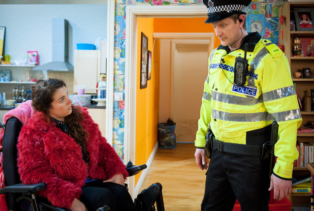 Corrie, Izzy assualts a police officer, Wed 18 May
