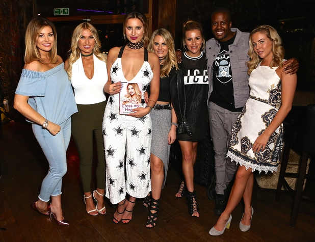 Lydia Bright, Jessica Wright, Vas Morgan, Danielle Armstrong, Billie Faiers and Georgia Kousoulou at Ferne Mccann's book launch - 18 May 2016