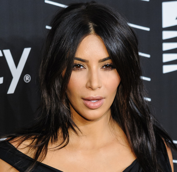 Kim Kardashian reveals that she ditched the Spanx, false eyelashes, lipstick and hair extensions at the Webby Awards in America, 15th May 2016