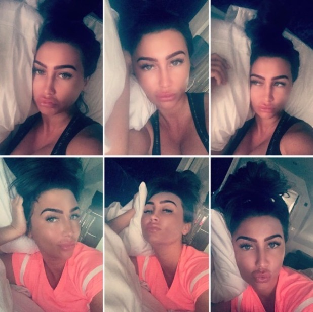 Lauren Goodger has a hair makeover after feeling unwell - 19 May 2016