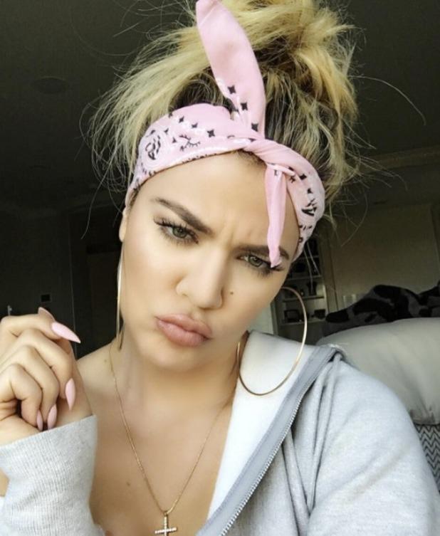 Khloe Kardashian rocks bandana/headscarf - new hair trend for summer, 17 May 2016