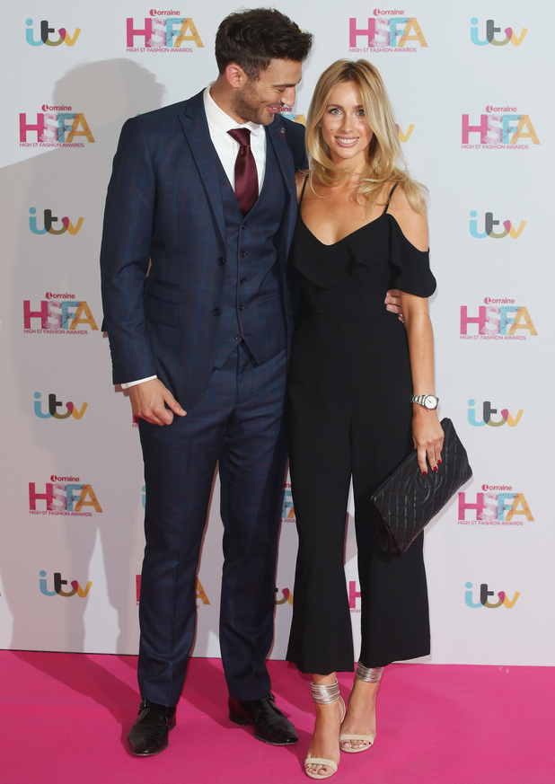 Jake Quickenden and Danielle Fogarty at Lorraine Kelly's High Street Fashion Awards held at the Grand Connaught Rooms - Arrivals - 17 May 2016