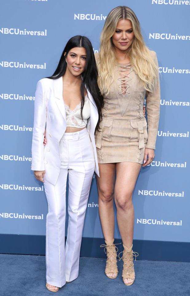 Khloe Kardashian and Kourtney Kardashian at the NBC Universal Upfront Presentation in New York, 17th May 2016