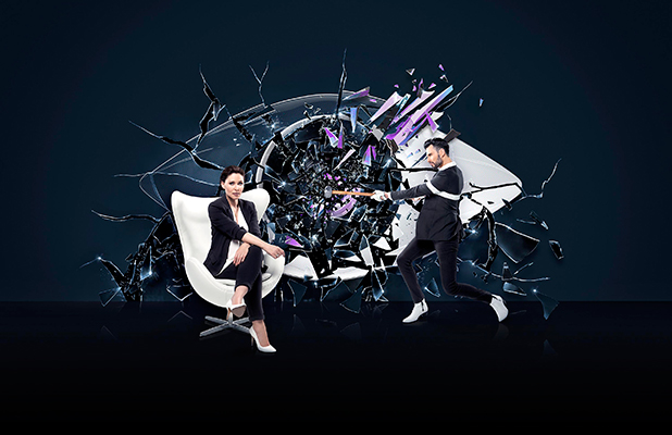 Big Brother new picture of Emma Willis and Rylan Clark-Neal 2016