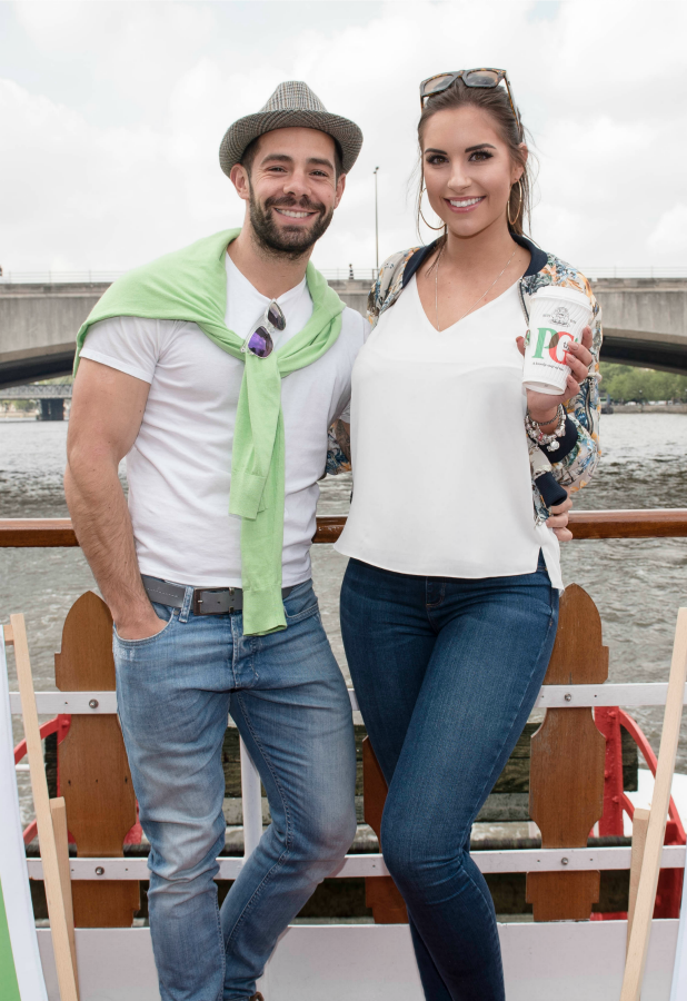 TOWIE's Charlie King at PG Tips river cruise 16 May 2016