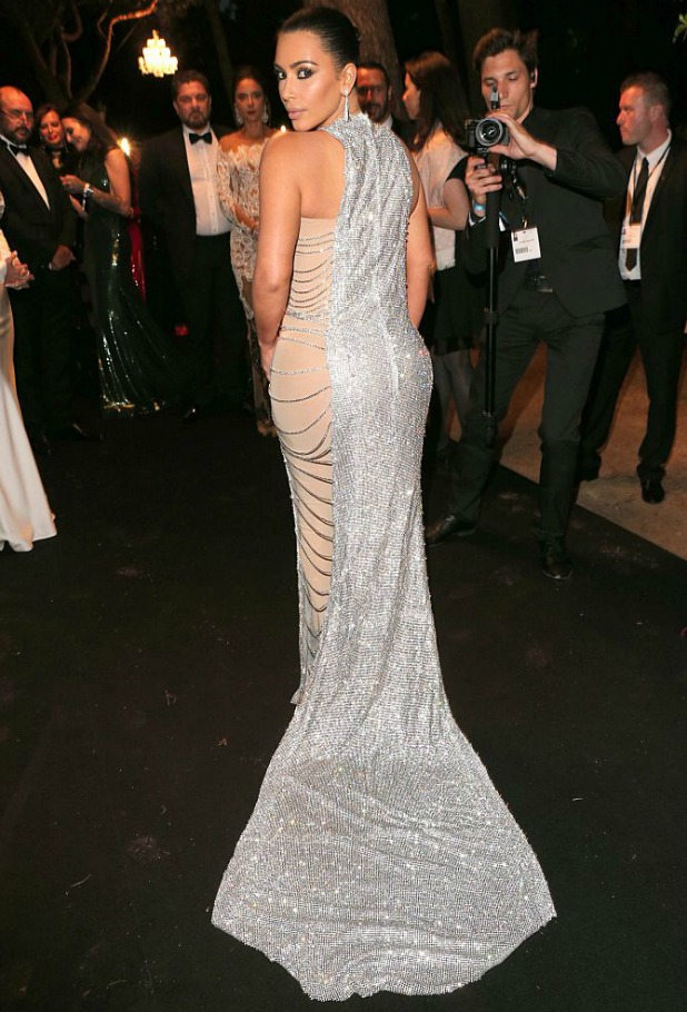 Kim Kardashian during the 'De Grisogono' Party at the annual 69th Cannes Film Festival at Hotel du Cap-Eden-Roc on May 17, 2016 in Cap d'Antibes, France. (Photo by Gisela Schober/Getty Images)