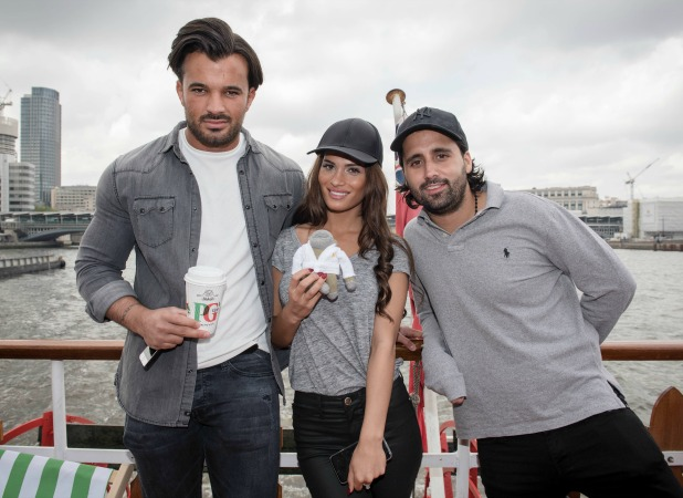 TOWIE's Mike Hassini and Nicole Bass at PG Tips river cruise 16 May 2016