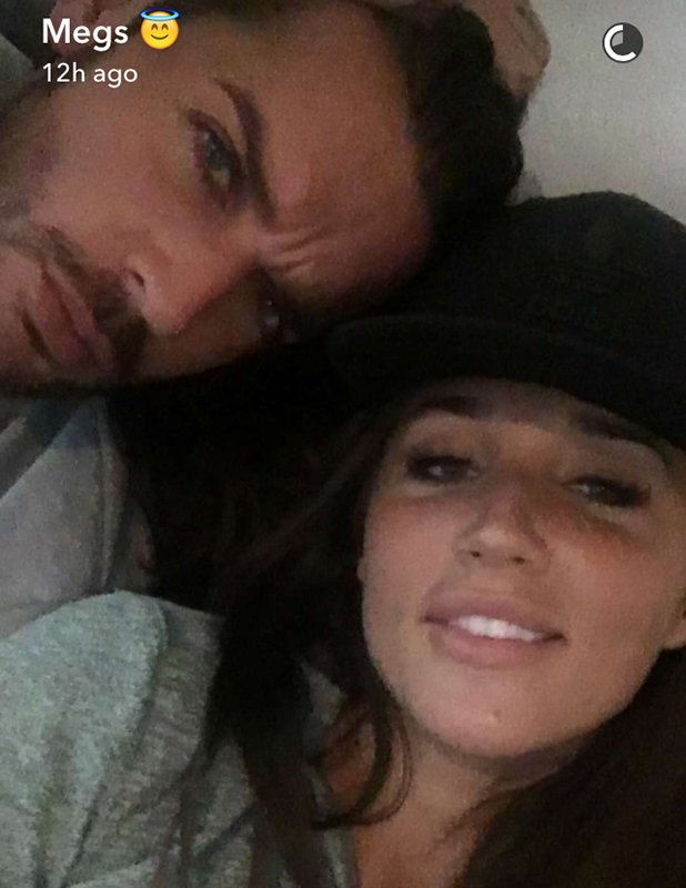Megan McKenna shares Snapchats of her night in with Pete Wicks 18 May 2016