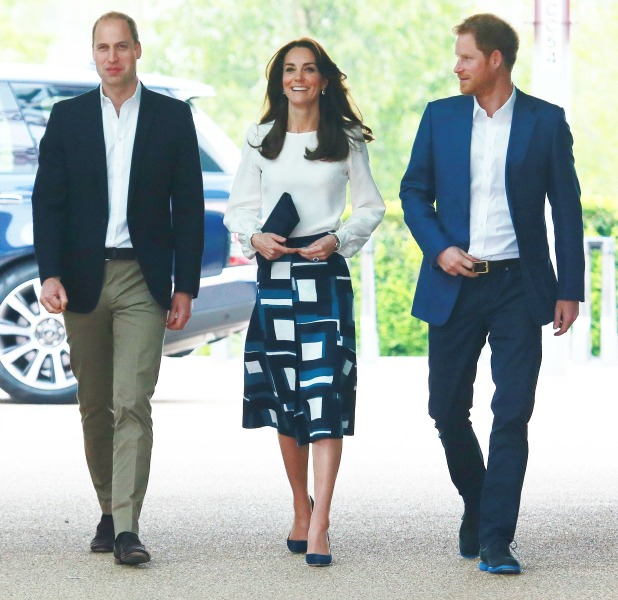 Heads Together Launch at the Olympic Park, London, Britain Prince William, Prince Harry, Kate Middleton 16 May 2016