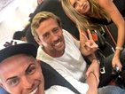 TOWIE's Bobby Norris shares flight with Peter Crouch and Abbey Clancy!