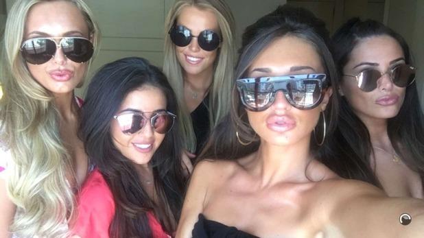 Megan McKenna shares Snapchats from Marbella 24 May