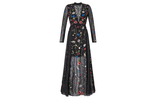 Black embroidered dress, Miss Selfridge, £99, 26th May 2016