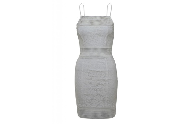 Lace dress in white, AX Paris £30, 24th May 2016