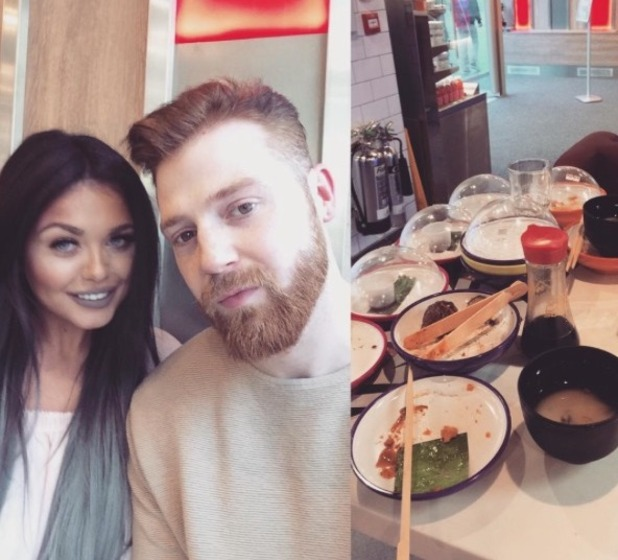 Scarlett Moffatt and Luke Crodden head to Yo! Sushi for a date - 27 May 2016