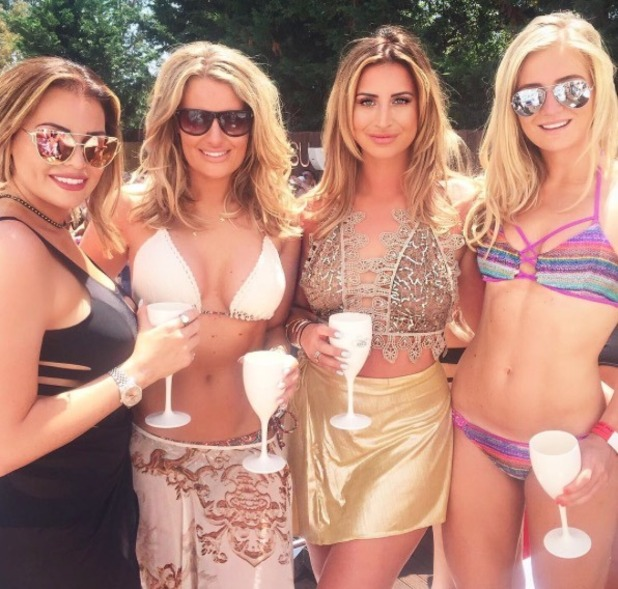 Jessica Wright, Danielle Armstrong and Ferne Mccann on day 1 in marbella - 27 May 2016