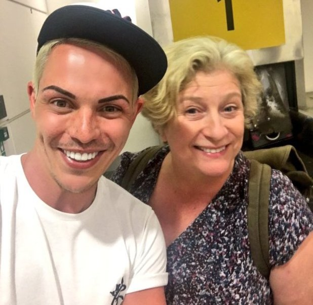 Bobby Norris meets Caroline Quentin on flight from Mykonos - 27 May 2016