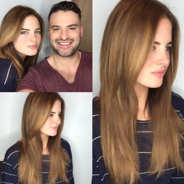 Binky Felstead shows off new Easilocks hair extensions, by Shane O'Sullivan, 24 May 2016
