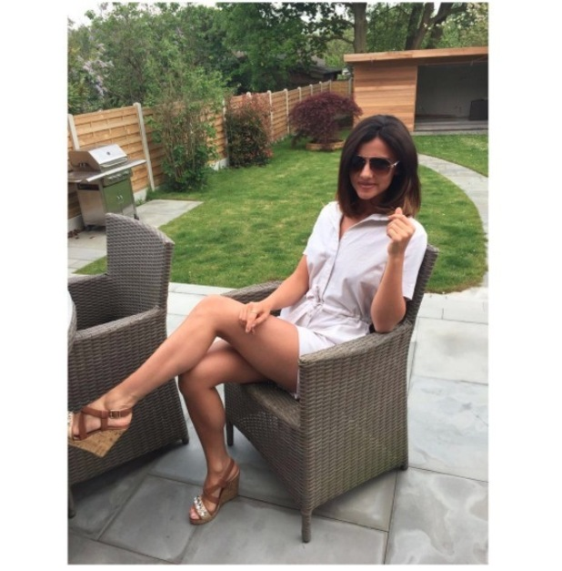 TOWIE's Lucy Mecklenburgh wears New Look wedges, 23rd May 2016