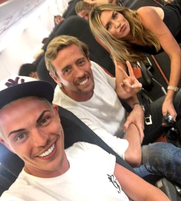 Bobby Norris meets Peter Crouch and Abbey Clancy on flight from Mykonos - 27 May 2016