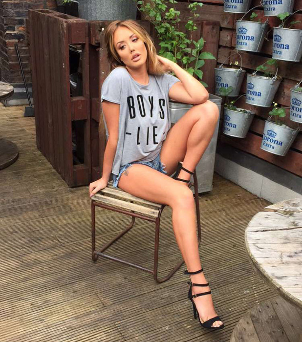 Geordie Shore's Charlotte Crosby shows off her new Nostalgia range on Snapchat, 26th May 2016
