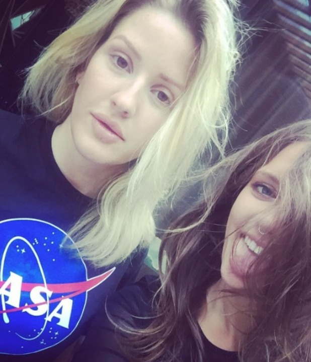 """Ellie Goulding and """"future wife"""" Tove Lo, 24 May 2016"""