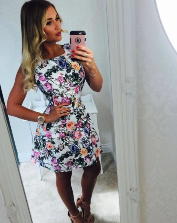 TOWIE's Billie Faiers poses for mirror selfie in AX Paris dress, 26th May 2016