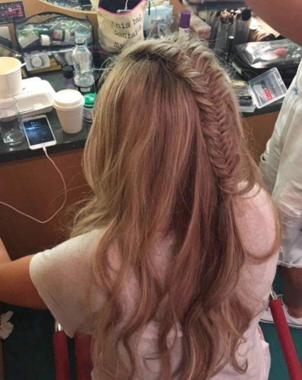 Katie Price shows off her fishtail braid on Loose Women, 24th May 2016